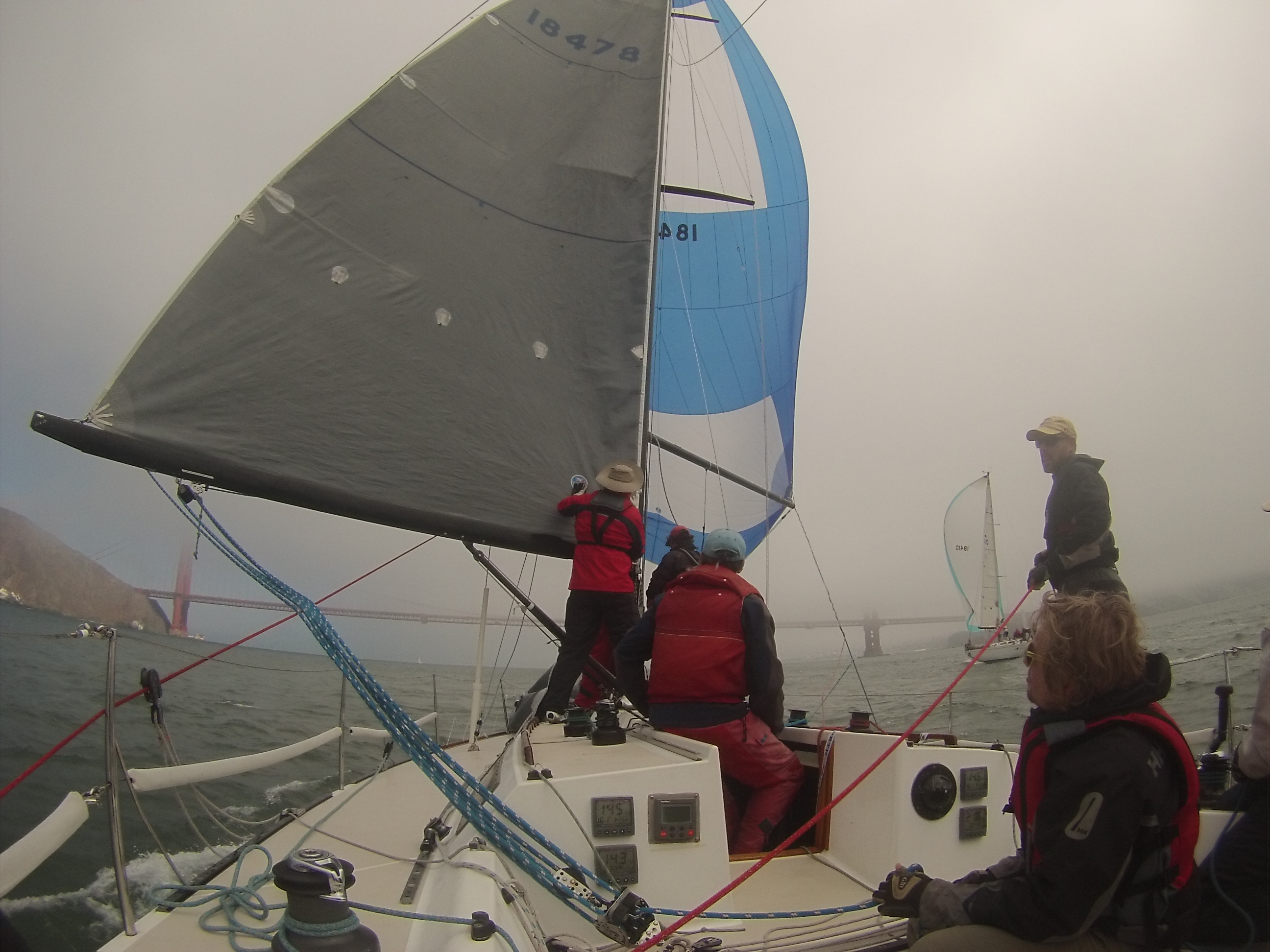 Racing in Big Wind and Fog